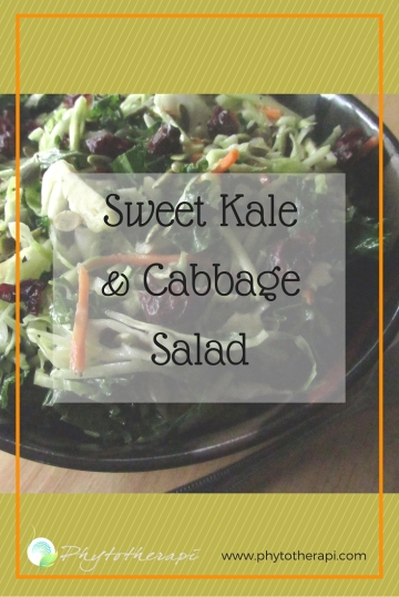 Sweet Kale and Cabbage Salad