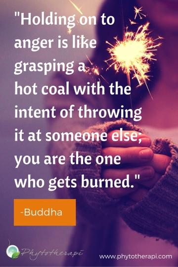 Holding onto anger