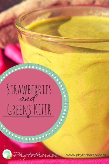 Strawberries and Greens Kefir