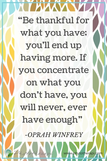Be thankful Oprah quote