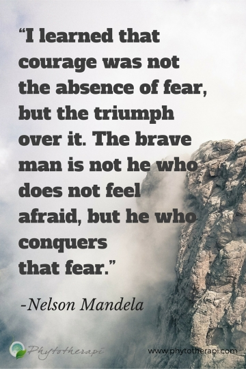 I learned that courage was not the absence of fear-PIN