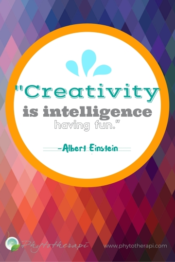 Creativity is intelligence having fun-PIN
