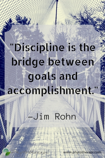 Discipline is the bridge between goals-Pin English