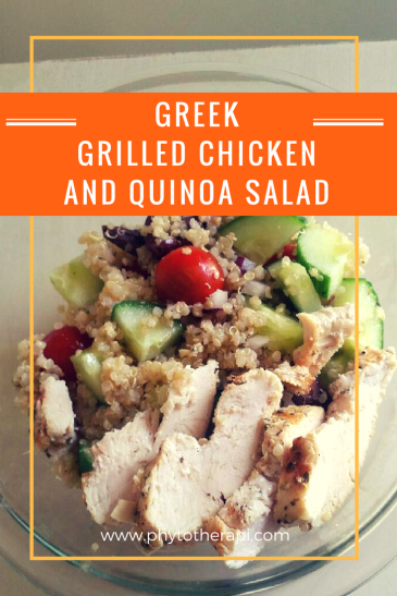 Greek Grilled Chicken and Quinoa Salad