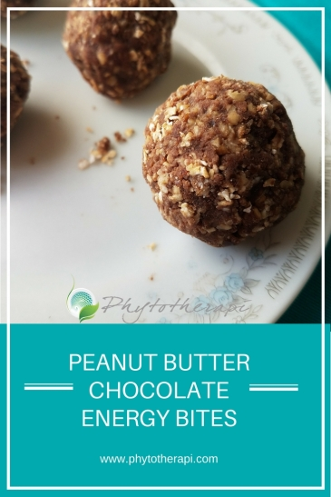 2Peanut Butter Chocolate Energy Bites