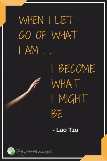 when I let go of what I am
