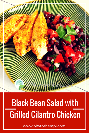 Black bean salad with grilled cilantro chicken.png